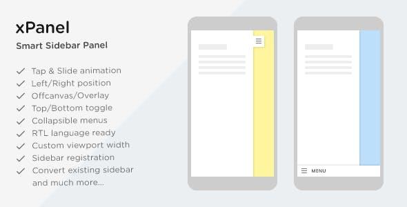xPanel - Smart Sliding Panel and Sidebar Widget Area for WordPress Themes
