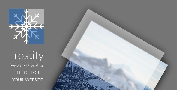 Frostify - Frosted Glass Effect for your Website - CodeCanyon Item for Sale