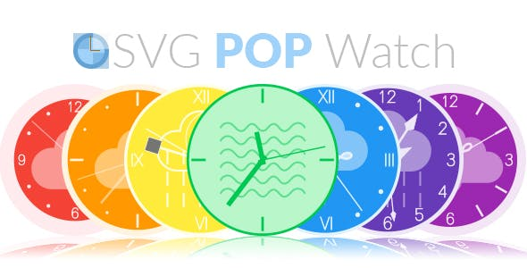 SVG POP Watch - A Responsive Animated SVG Watch Engine