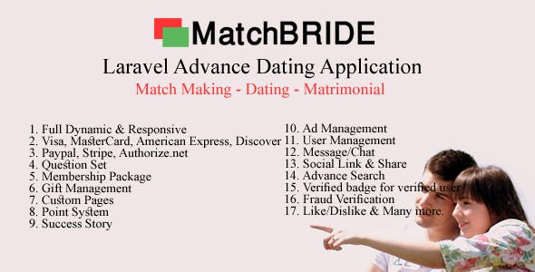 MatchBride-Laravel advance dating application