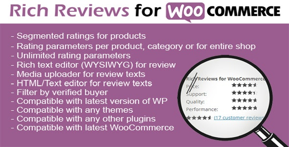Woocommerce Rich Reviews - CodeCanyon Item for Sale