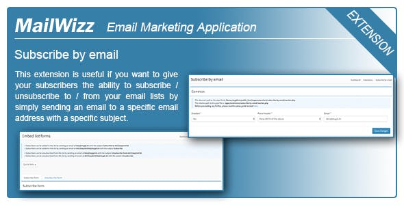 MailWizz EMA - Subscribe by email