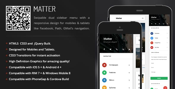 Matter | Sidebar Menu for Mobiles & Tablets