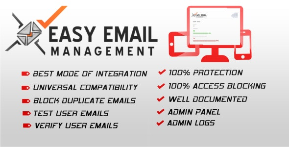 Easy Email Management - Email verification and management - CodeCanyon Item for Sale