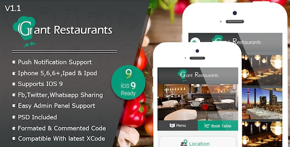 Food Delivery System for Restaurant with backend IOS Full Application - CodeCanyon Item for Sale