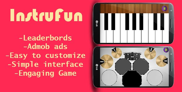 InstruFun(Drum+piano+pads)+Admob ads+leaderbords