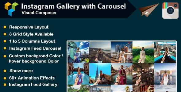 WPBakery Page Builder - Instagram Gallery with Carousel (formerly Visual Composer)