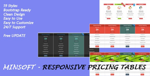 Minsoft - Responsive Pricing Tables