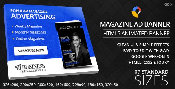 Magazine Promotion - HTML5 ad banners - CodeCanyon Item for Sale