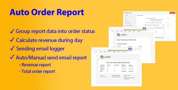 Magento 2 Auto Order Reports