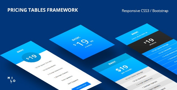 Pricing Tables - Responsive CSS3 | Bootstrap Framework - CodeCanyon Item for Sale
