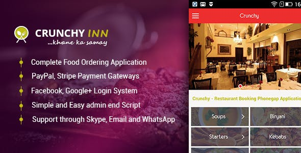 Crunchy - Restaurant Booking Phonegap Application