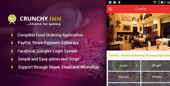 Crunchy - Restaurant Booking Phonegap Application - CodeCanyon Item for Sale