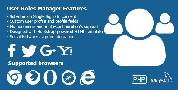 PHP User Manager - CodeCanyon Item for Sale
