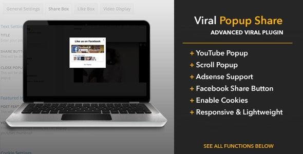 Viral Popup Share - CodeCanyon Item for Sale