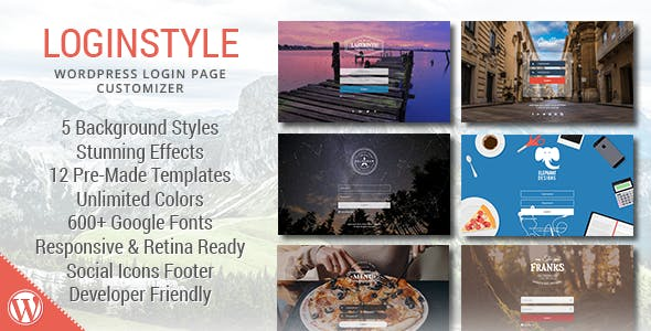 Loginstyle - WordPress Login Page Styler