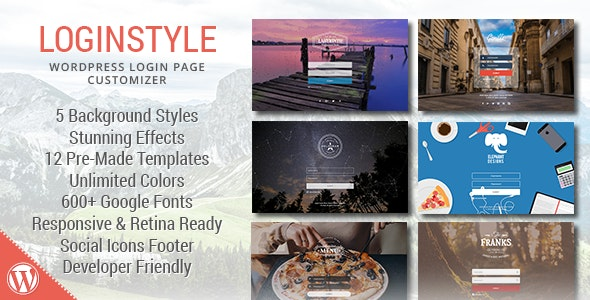 Loginstyle - WordPress Login Page Styler - CodeCanyon Item for Sale