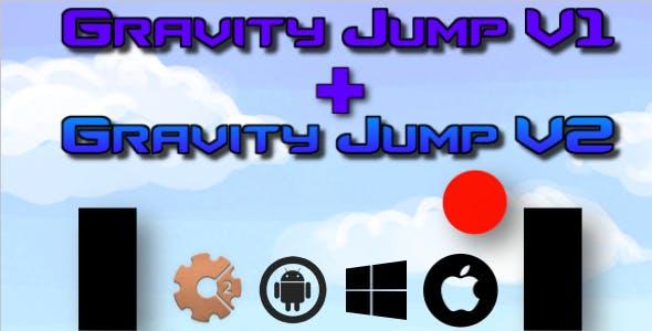 Gravity Jump V1 + V2 - HTML5 Game (Construct 2 - CAPX)