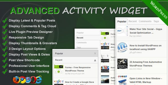 Advanced Activity Widget