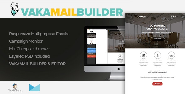 VakaMail - HTML Email Newsletter Template Builder + Editor - CodeCanyon Item for Sale