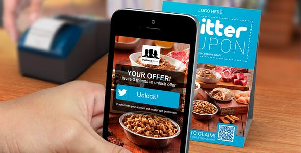 Twitter Coupon Sign & App - With friend inviter!