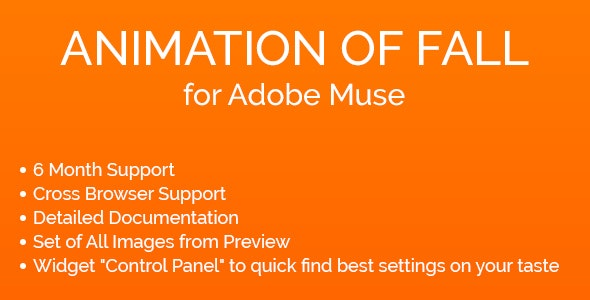 Animation of Fall Widget for Adobe Muse - CodeCanyon Item for Sale