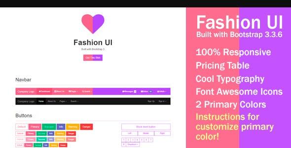 Fashion UI - Bootstrap 3 Skin