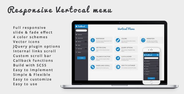 Responsive Vertical Menu