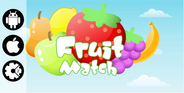 Fruit Match - HTML5 Mobile and Desktop Game