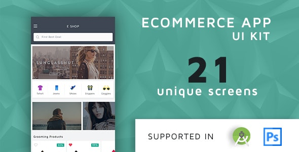 Shoppy Ecommerce UI KIT with android xml Source Code - CodeCanyon Item for Sale