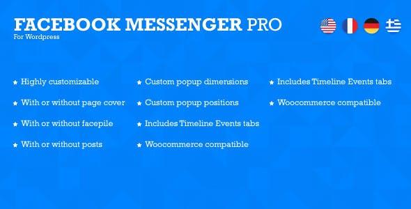 Facebook Messenger Pro for Wordpress