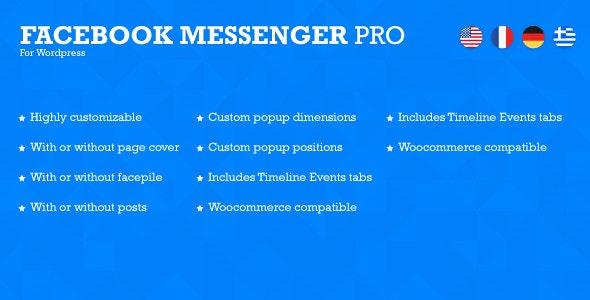 Facebook Messenger Pro for Wordpress - CodeCanyon Item for Sale