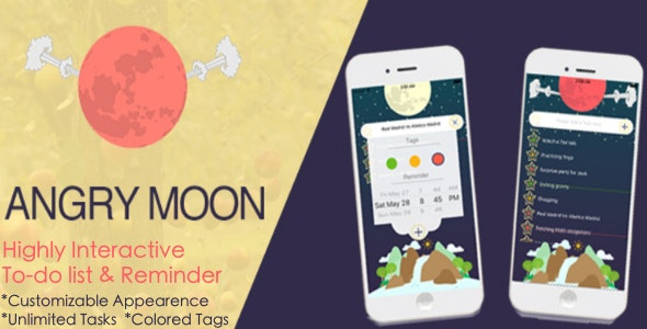 Angry Moon: Abnormal To-Do List and Reminder - CodeCanyon Item for Sale