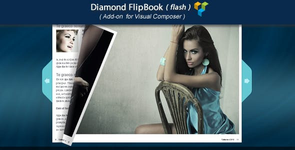 Visual Composer Add-on - Diamond FlipBook(flash)