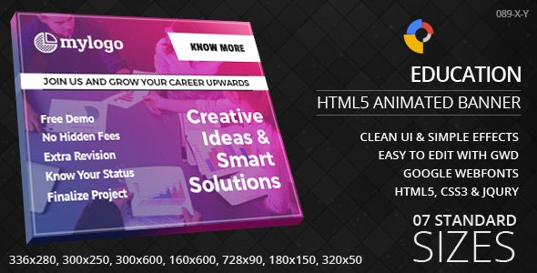Education - HTML5 ad banners - CodeCanyon Item for Sale