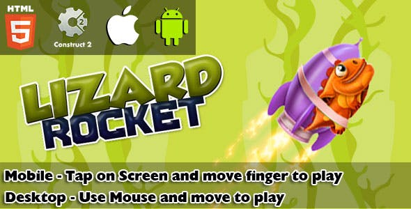 Lizard Rocket HTML5 Game (CAPX)