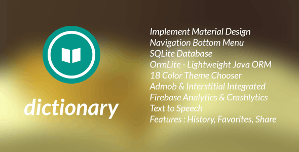 Dictionary Template for Android  - CodeCanyon Item for Sale
