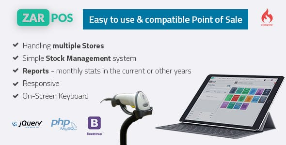 Zar POS - point of sale web application