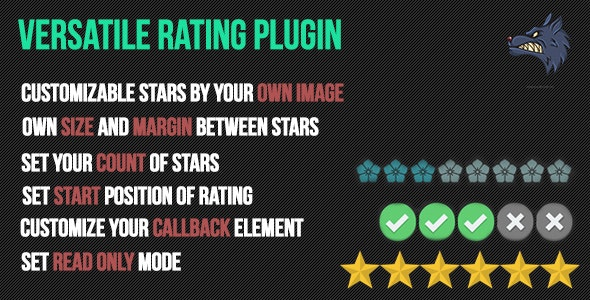 Versatile star rating plugin - CodeCanyon Item for Sale