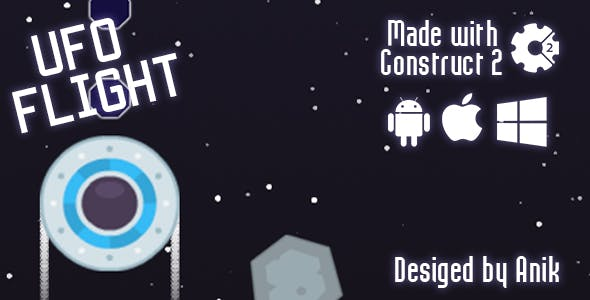 Ufo Flight - HTML5 Game (CAPX)
