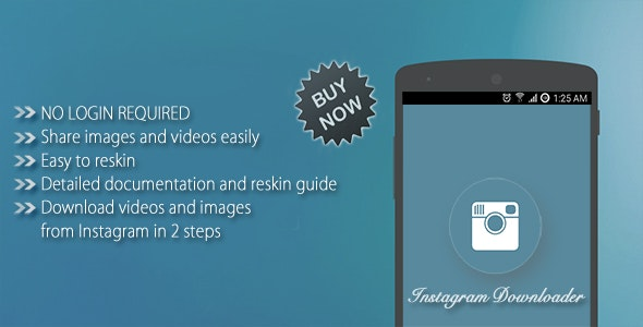 Instagram Videos And Images Downloader + Admob - CodeCanyon Item for Sale