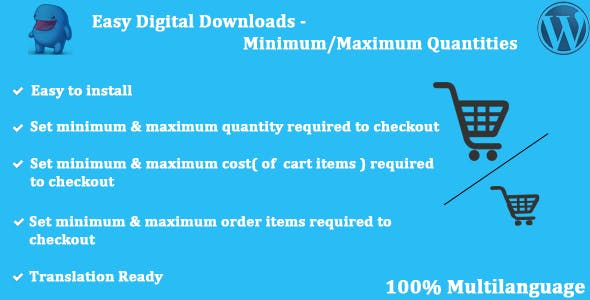 Easy Digital Downloads - Minimum/Maximum Quantities