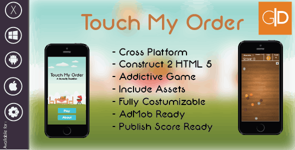 Touch My Order Addictive Game | HTML 5 Construct 2 Template + AdMob + Publish Score Ready  - CodeCanyon Item for Sale