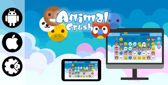 Animal Crush - HTML5 Desktop and Mobile Game + Admob - CodeCanyon Item for Sale