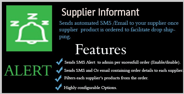 Supplier Informant - CodeCanyon Item for Sale