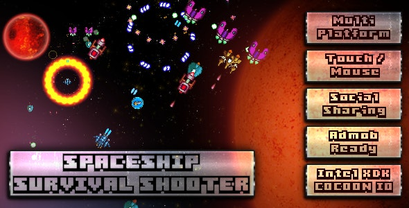 Spaceship Survival Shooter - CodeCanyon Item for Sale