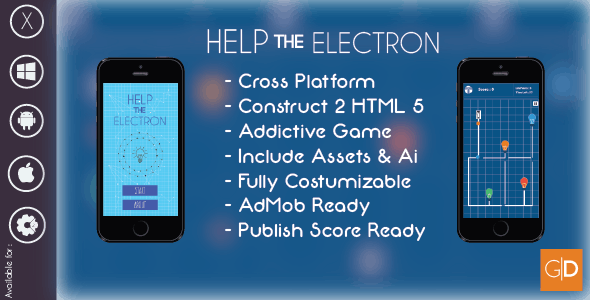 Help The Electron Construct 2 HTML 5 Game Template + AdMob Ready + Capx + Assets + Source Code - CodeCanyon Item for Sale