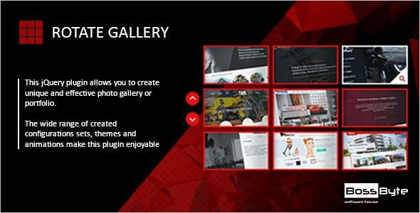 Rotate Gallery - Jquery Portfolio Slider