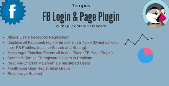 Facebook Login and Page Plugin for Prestashop with Dashboard by Tempus
