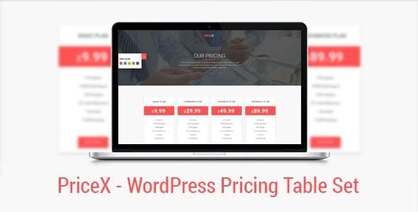PriceX | Material Design WordPress Pricing Table Set Plugin